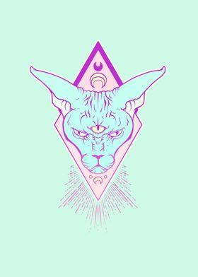 Magic Sphynx Cat Art