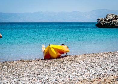 Houcima beach in summer