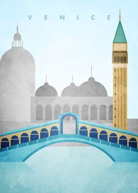 Venice Travel Poster