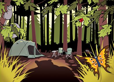 Camping In The Wild