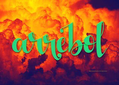 Arrebol and clouds
