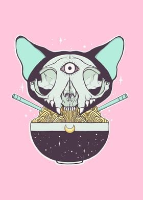 Cat Skull Ramen Noodles