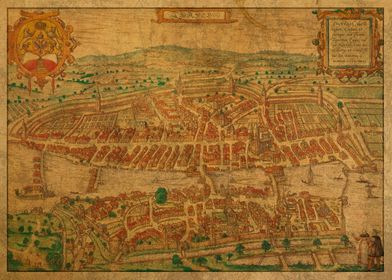 Map of Zurich 1581