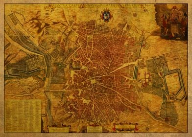 Map of Madrid Spain 1656