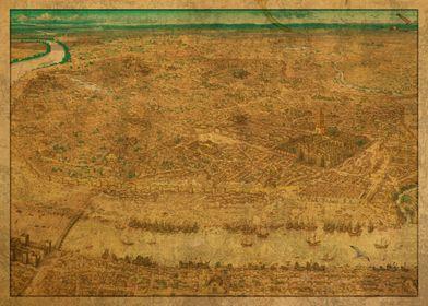 Map of Seville Spain 1519