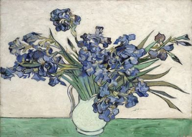 Vase with Irises by Gogh