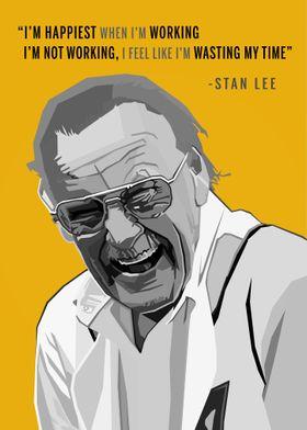 Stan Lee WPAP Pop Art