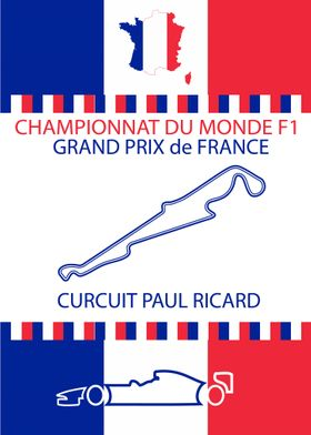 French Formula 1 GP Poster