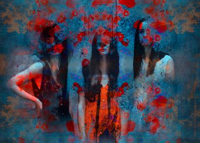 Abstract three women