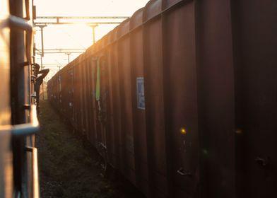 Sun Through the Trains