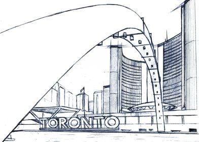 Hand Drawn TO City Hall