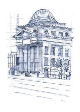 Hand Drawn Bank of Toronto