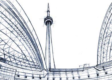 Hand Drawn CN Tower