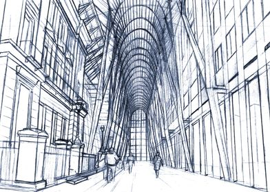 Hand Drawn BrookfieldPlace