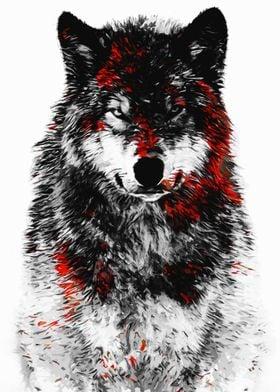 Wolf Red Black