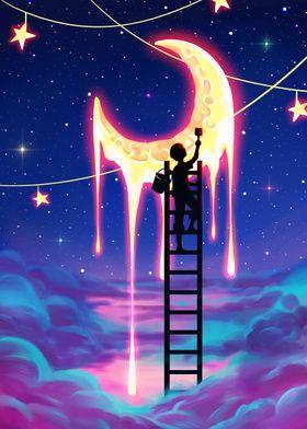 Crescent Moon Star Dream