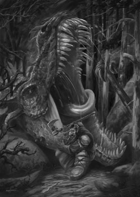 Dragon Ambush - Grayscale