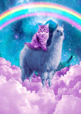 Rainbow Llama  Cat Llama