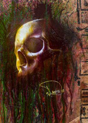 Gold Green Skull
