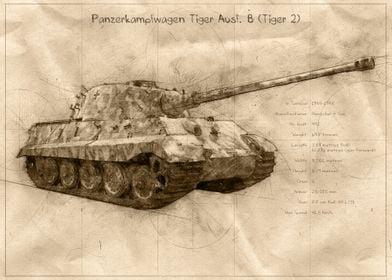 Tiger 2 Tank Sketch