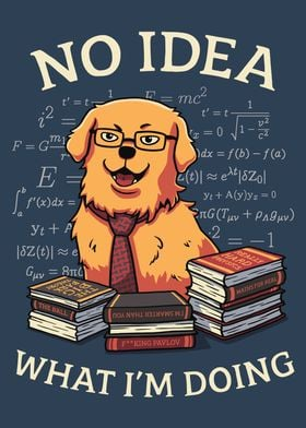 Math Golden Retriever Dog