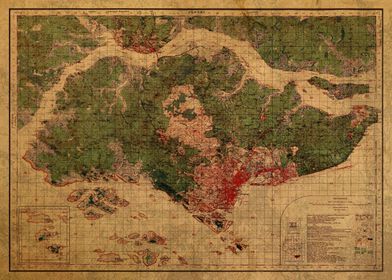 Singapore Map 1930