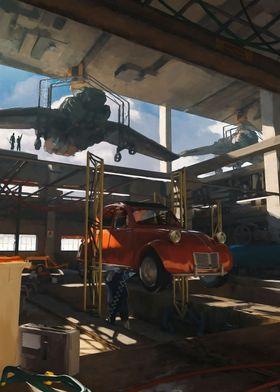 Citroen 2cv Hangar