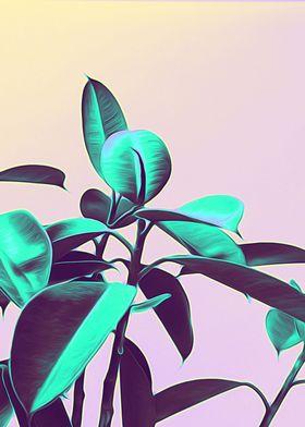 Iridescent Green Leaves