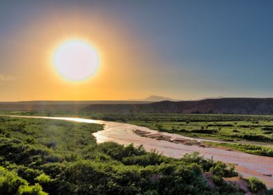 Sunset at Virgin River
