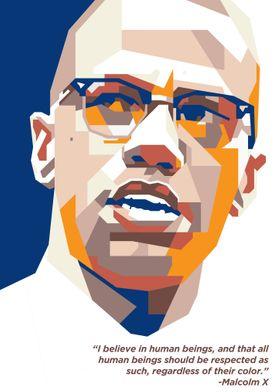 Malcolm X in WPAP Art