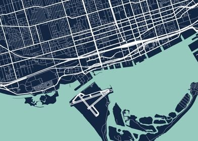 Toronto City Map  Tile 6