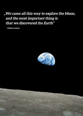 Earthrise Apollo 8 Quote