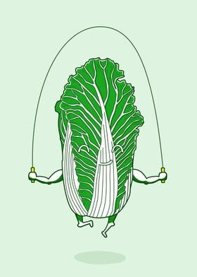 abbage and skipping rope