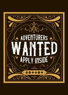 Adventurers Wanted Poster