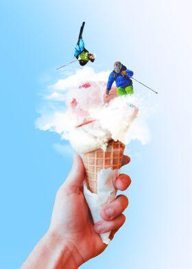 a scoop of gelato