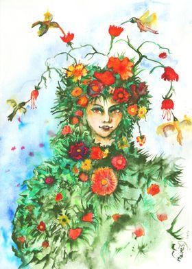 Dryad of flowers