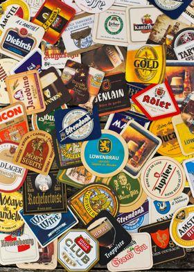Beer coaster wallpaper
