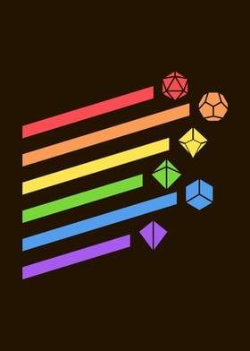 Rainbow Dice Set Ray