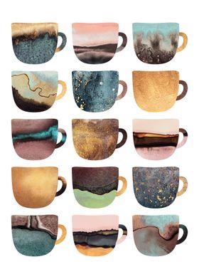 Pretty Earthy Coffee Cups