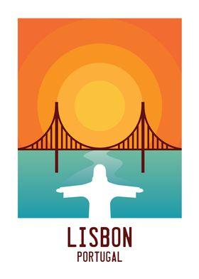 Lisbon Sunset Artwork
