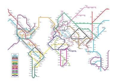 World Metro Tube Map