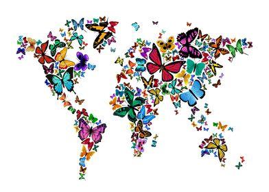 Butterflies World Map