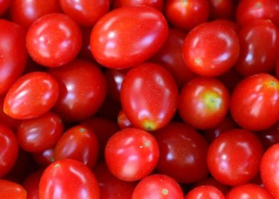Red Tomatoes on a Market