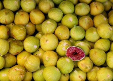 Ripe Figs on a Market