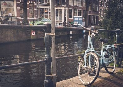 Bicycle By The Canal