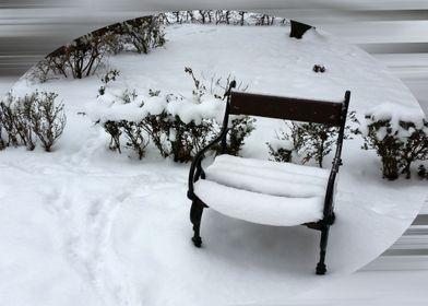 New snow on the armchair