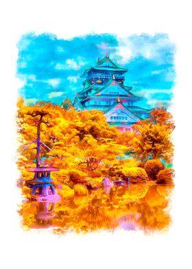 Yellow landscape in Japan