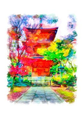 Old japanese monastery