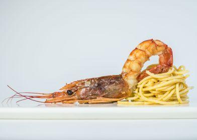 Shrimp Pasta Art