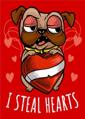 I Steal Hearts Pug Dog